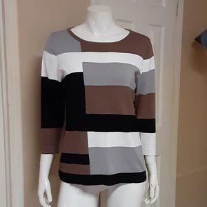 Carol Rose Color Block Sweater